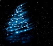 Árbol del azul de la Navidad Fotos de archivo