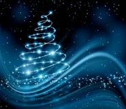 Árbol del azul de la Navidad Fotografía de archivo libre de regalías