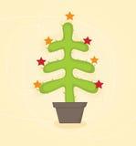 Árbol del cacto de la Navidad ilustración del vector