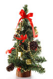Árbol del cono del pino de la Navidad Fotos de archivo