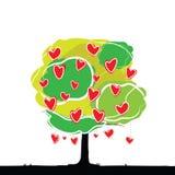 Árbol del corazón Foto de archivo