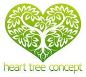 Árbol del corazón ilustración del vector