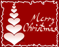Árbol del corazón de la tarjeta de Navidad   Imágenes de archivo libres de regalías