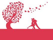 Árbol del corazón del amor Foto de archivo libre de regalías