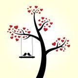 Árbol del corazón del amor stock de ilustración