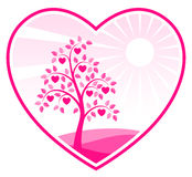 Árbol del corazón en corazón Fotografía de archivo