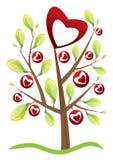 Árbol del día de tarjeta del día de San Valentín Fotografía de archivo