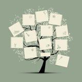 Árbol del deseo para su diseño Imagenes de archivo