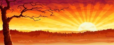 Árbol del desierto stock de ilustración