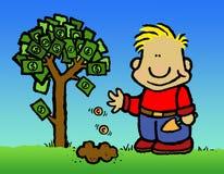 Árbol del dinero stock de ilustración