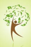 Árbol del dinero ilustración del vector