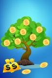 Árbol del dinero Fotografía de archivo