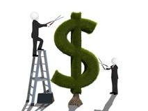 Árbol del dinero aislado en el fondo blanco stock de ilustración