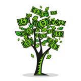 Árbol del dinero del vector Imagenes de archivo
