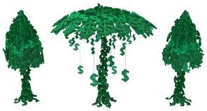 Árbol del dinero doblado libre illustration