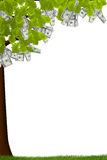 Árbol del efectivo ilustración del vector