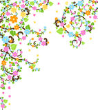 Árbol del flor ilustración del vector