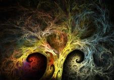 Árbol del fractal Foto de archivo