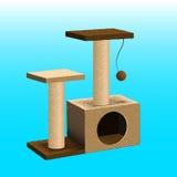 Árbol del gato del vector, muebles del gato Imagen de archivo libre de regalías