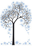 Árbol del invierno,   ilustración del vector