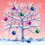 Árbol del invierno stock de ilustración