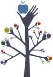 Árbol del juglar stock de ilustración