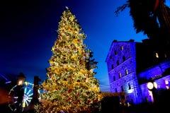 Árbol del mercado de la Navidad - Toronto Imagen de archivo libre de regalías
