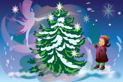 árbol del Nuevo-año Imagen de archivo