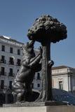 Árbol del oso y de fresa Imagen de archivo libre de regalías