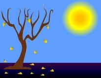 Árbol del otoño stock de ilustración