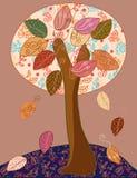 Árbol del otoño del cuento de hadas Foto de archivo libre de regalías