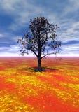 Árbol del paisaje stock de ilustración