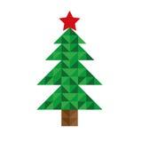 Árbol del pixel de la Navidad Fotografía de archivo libre de regalías