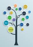 Árbol del plan empresarial Imagen de archivo libre de regalías