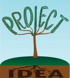 Árbol del proyecto Imágenes de archivo libres de regalías