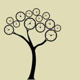 Árbol del reloj Imagen de archivo libre de regalías