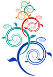 Árbol del remolino Foto de archivo libre de regalías