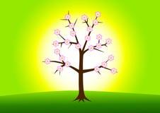 Árbol del resorte stock de ilustración