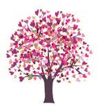 Árbol del símbolo del amor Ilustración del Vector