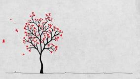 Árbol del ` s de la tarjeta del día de San Valentín stock de ilustración