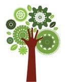 Árbol del ser humano de la tecnología ilustración del vector