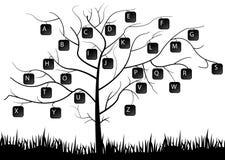 Árbol del teclado Stock de ilustración
