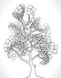 Árbol del vector de cuadrados Foto de archivo libre de regalías