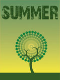 Árbol del verano stock de ilustración