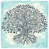 Árbol dibujado mano hermosa del vintage de la vida Imagen de archivo libre de regalías