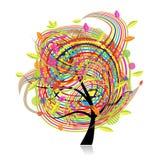 Árbol divertido del resorte para su diseño libre illustration