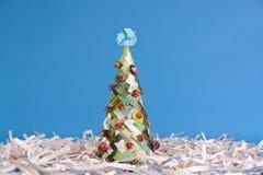 Árbol ecológico de Navidad Fotos de archivo