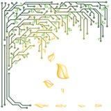 Árbol electrónico Foto de archivo libre de regalías