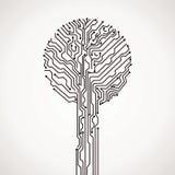 Árbol electrónico abstracto Fotografía de archivo