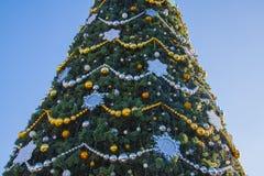Árbol elegante del Año Nuevo Fotografía de archivo libre de regalías